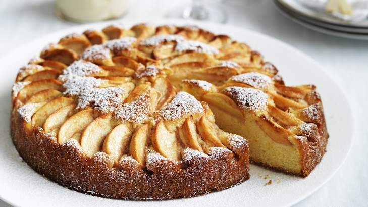 Italian Apple Cake with Grand Marnier Mascarpone by Neil Perry