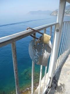 Love Lock in Cinque Terre, Italy