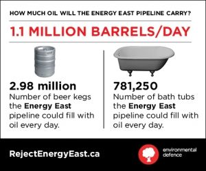 Environmental Defence: The ugly truth about Energy East – North America's largest proposed tar sands pipeline