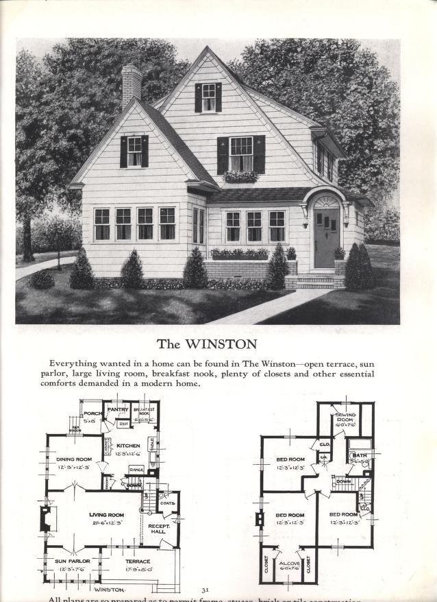Better Homes At Lower Cost No 17 Vintage House Plans Different House Styles House Floor Plans