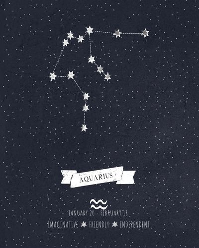 Aquarius Constellation I could do the constellations of my family and not connect the stars, or connect them it would still look awesome