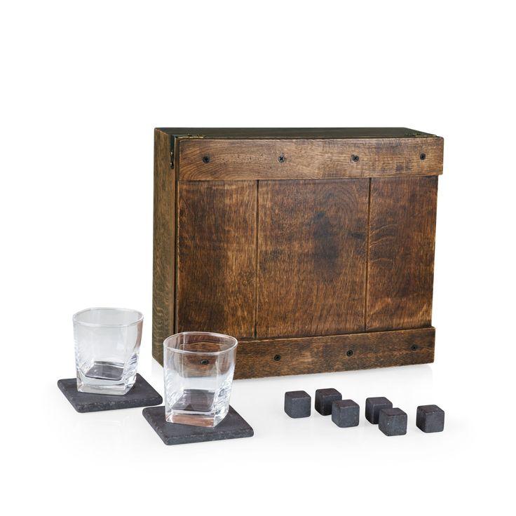 Legacy® 'Whiskey Box' Gift Set, Brown (Wood)