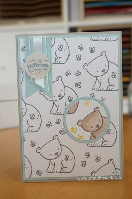 Stampin Up, Spotlight, Technique, Card, Birth, Baby, Claudia corner