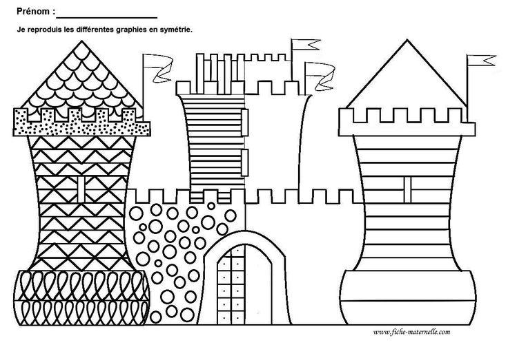 schrijfpatroon kasteel / chateau
