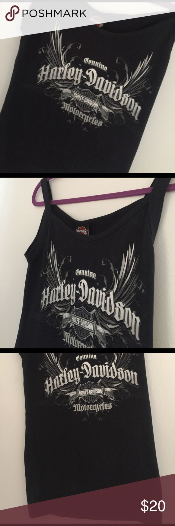 💯 AUTHENTIC HARLEY TANK NWT FIRM Harley Ex BF didn't even know my size. This is Ladies Large. Reflective wings. Brand new with tags. Bought on sale as shown for $33. Harley-Davidson Tops Tank Tops