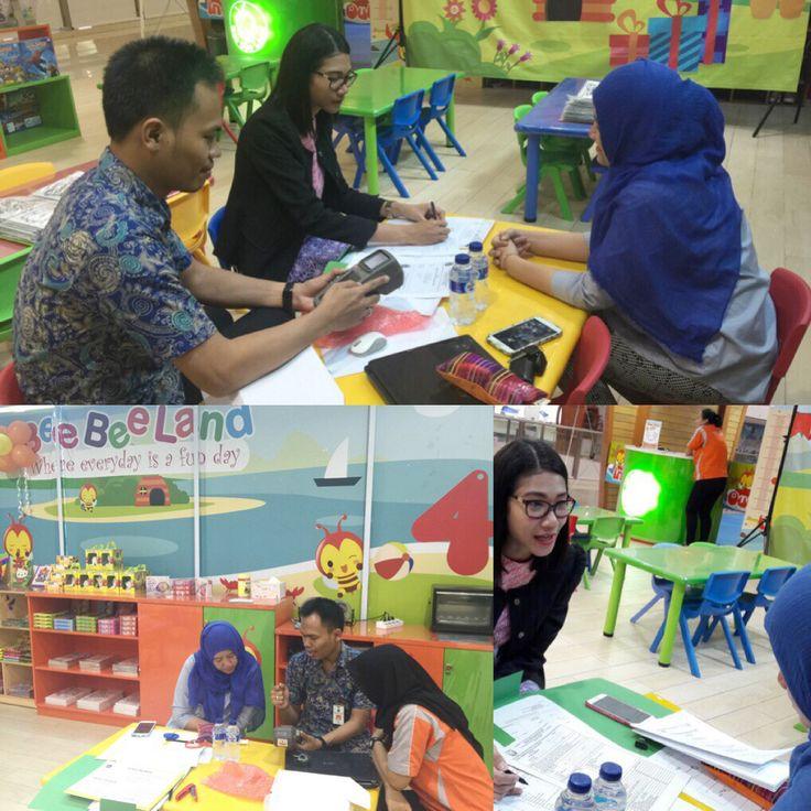 Penyerahan alat epos & Bimtek kpd Wp BeeBee's Land Cipinang Indah Mall
