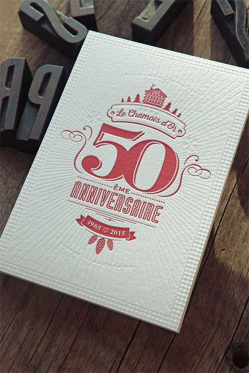 Cartes de voeux Chamois d'Or / design Pepper Studio (Sallanches)