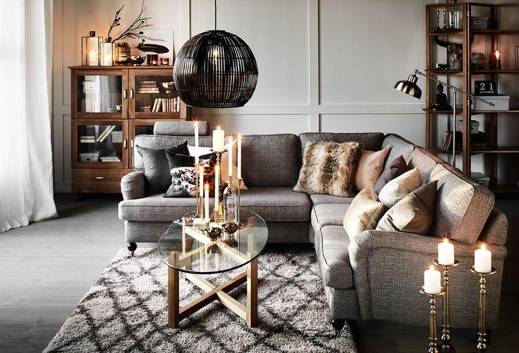 vardagsrum,soffa,soffbord,taklampa