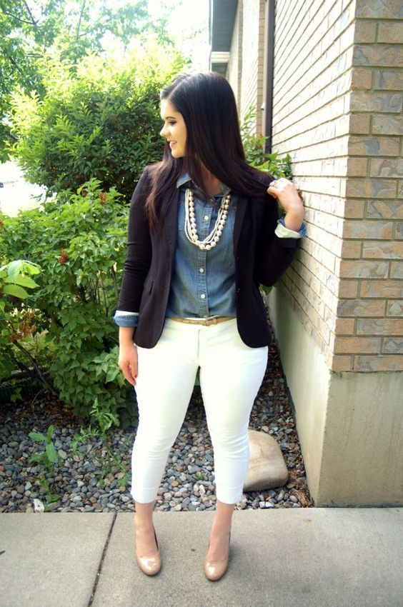"""Take a look at the best plus size fall outfits for work in the photos below and get ideas for your office outfits!!! tunic with jacket More Image source """" />"""