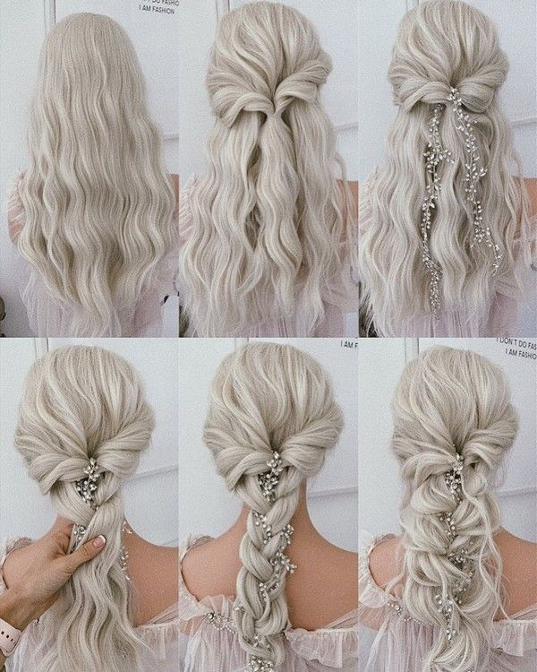 30 Prom Wedding Hairstyle Tutorial For Long Hair Roses Rings Part 3 In 2020 Hair Styles Wedding Hairstyles Tutorial Diy Wedding Hair
