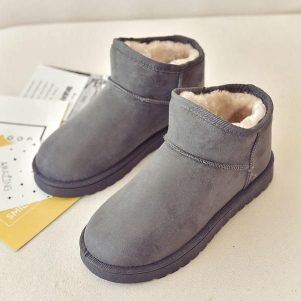 b33f0090ed8ec Boots Women Lovely Flock Ankle Australia Flat Platform Shoes Womens Winter  Fashion 2018 Non-slip Casual Rubber Warm Plush Ladies
