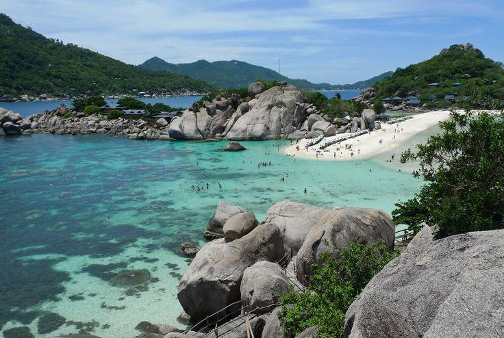 Ko Tao, Thailand. Great for snorkeling, less touristy than Ko Samui.