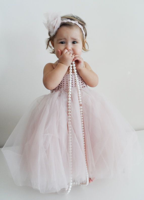 Ankle Length Baby Girl Tutu Dress Baby Flower Girl Tulle Dress With