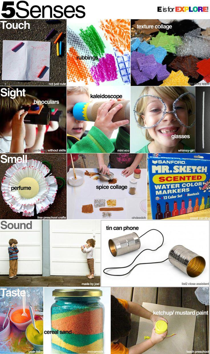 Fun ideas for exploring our 5 senses.