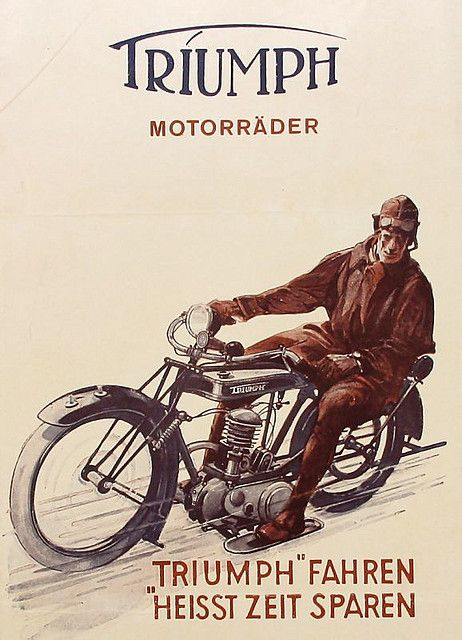 Triumph Motorräder – Broschüre 1925   – Cool Motor Cycles New and Old
