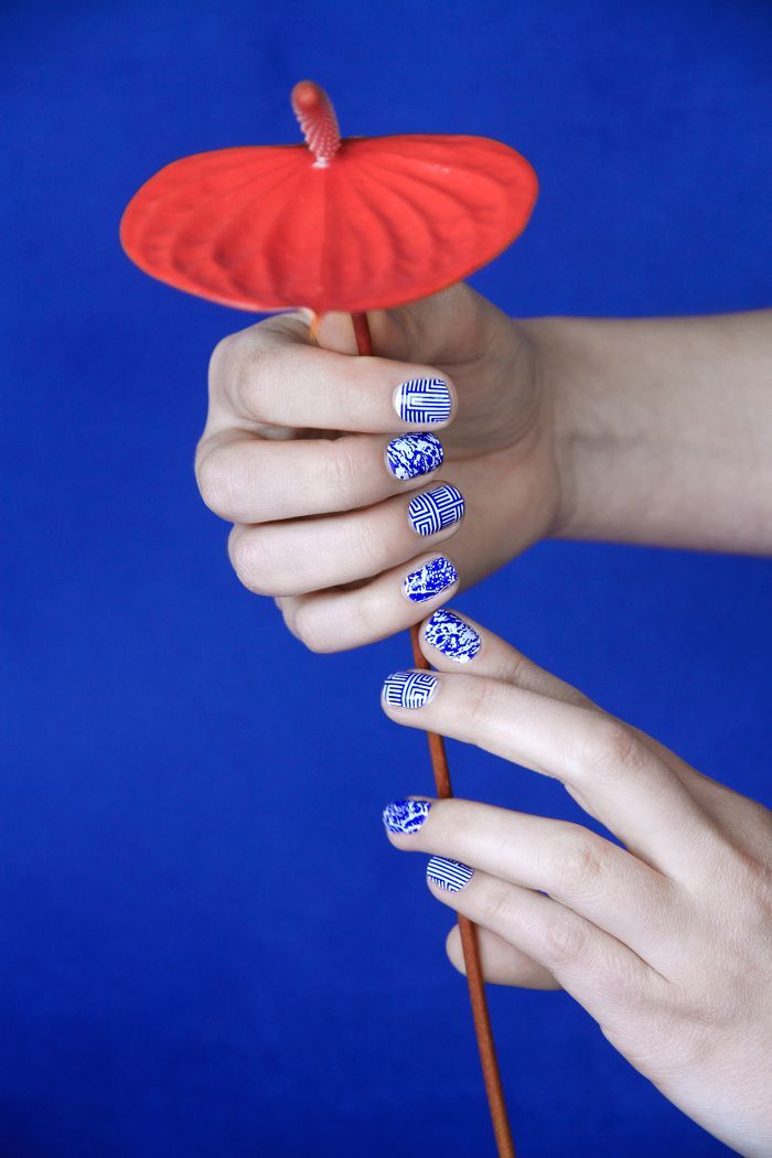 chinese porcelain nail art