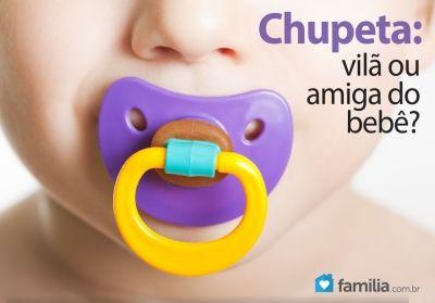 Chupeta: vantagens e desvantagens para o bebê.