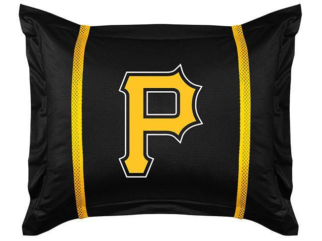Pittsburgh Pirates MLB Sports Coverage Team Color Standard Sidelines Sham #SportsCoverage