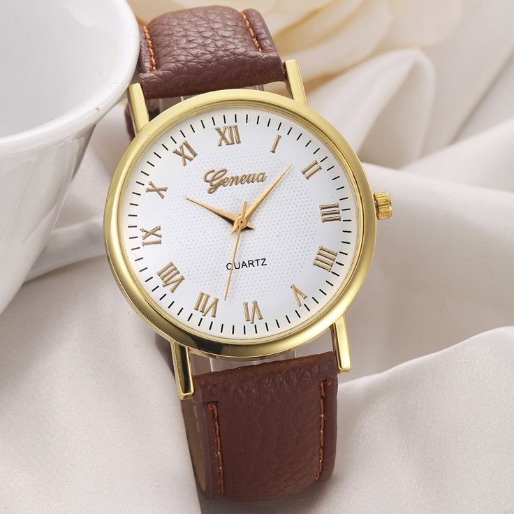 Relojes Vogue Roman Numerals Quartz Watch Women Fashion Geneva Lady Wrist Watches Men Sports Leather Clock Hours Montre Femmes