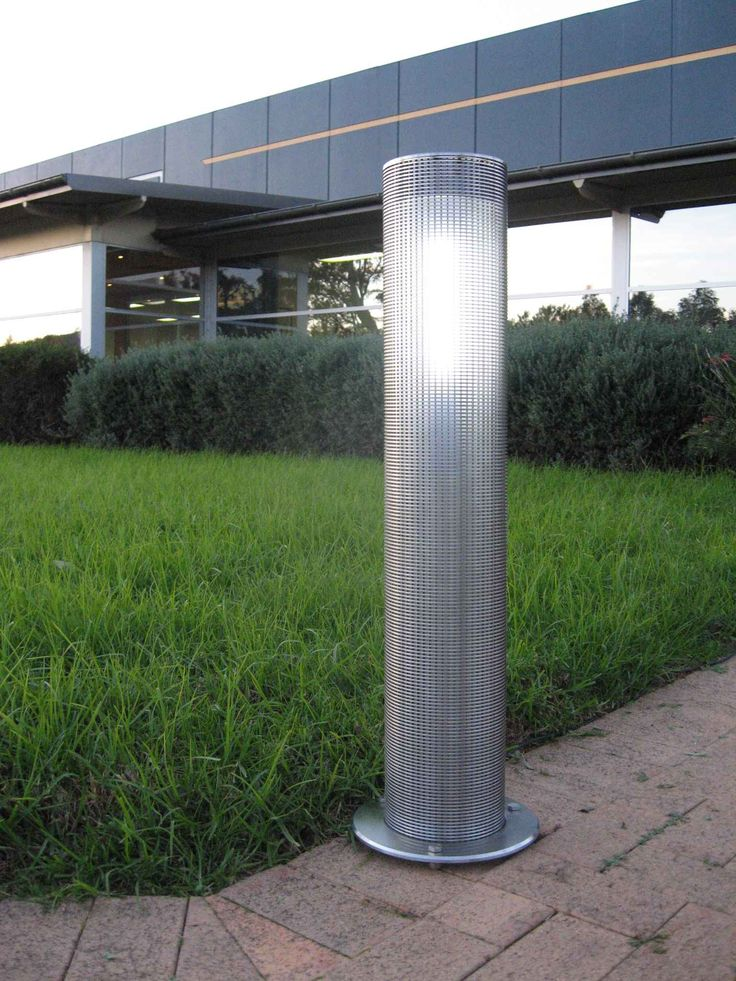 Screen lighting bollards have a unique screen design and supply soft lighting to enhance any urban or park environment.