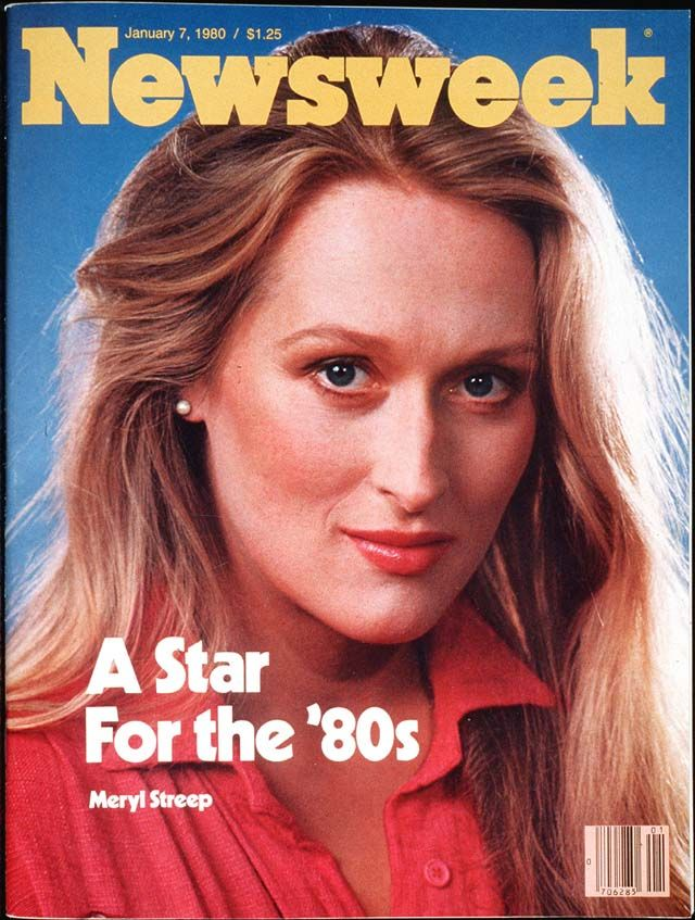 Meryl Streep on the cover of Newsweek in 1980. Wonder exactly how many covers she's had since. What's your favorite Meryl film?