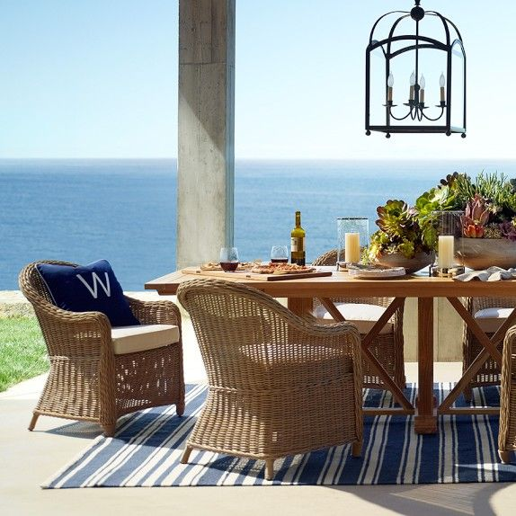 Somerset Teak Outdoor Dining Table | Williams Sonoma Home