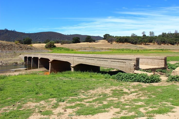 Old Salmon Falls Bridge located at Folsom Lake, CA. This gold rush era structure was built in the 1880s. The bridge is usually underwater except in years where Folsom Lake water levels are low.