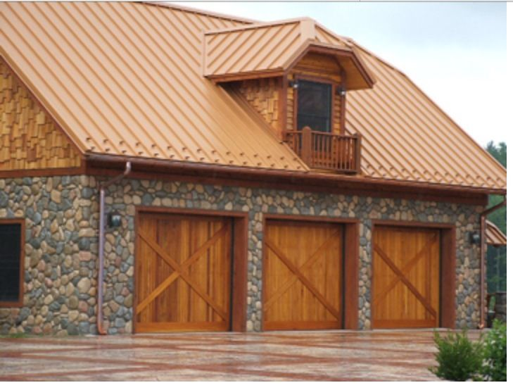 Copper Roofing on Morton Building Log Homes