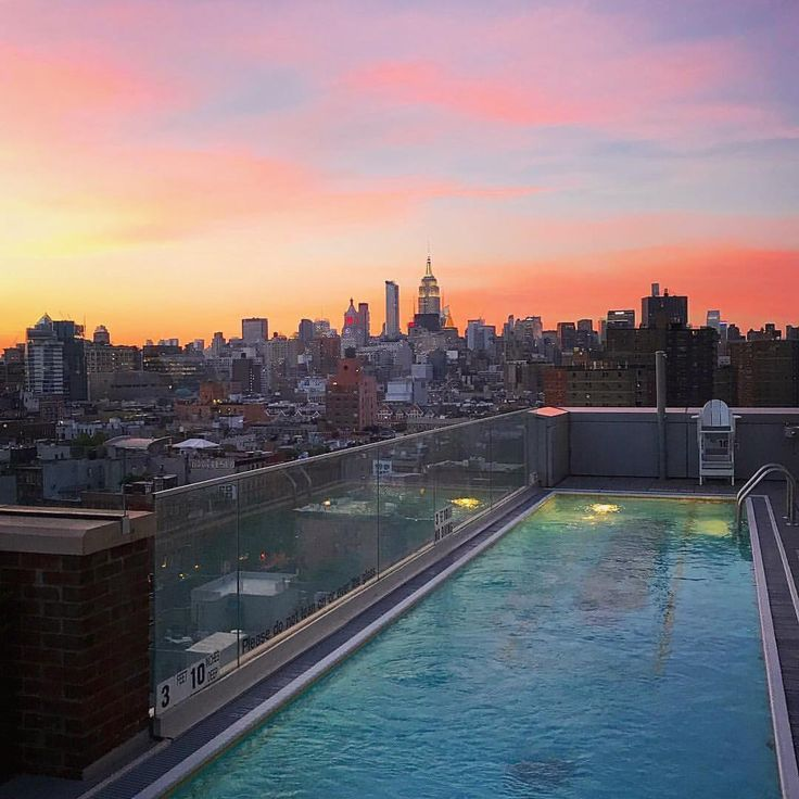 Mr Purple Rooftop Bar New York Bar Design New York