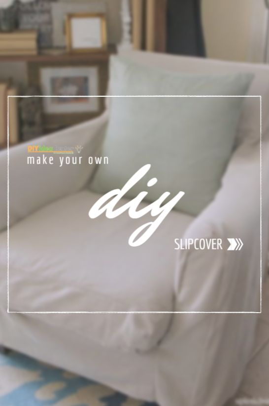 I had no idea a slipcover could be this easy (and inexpensive) to make.