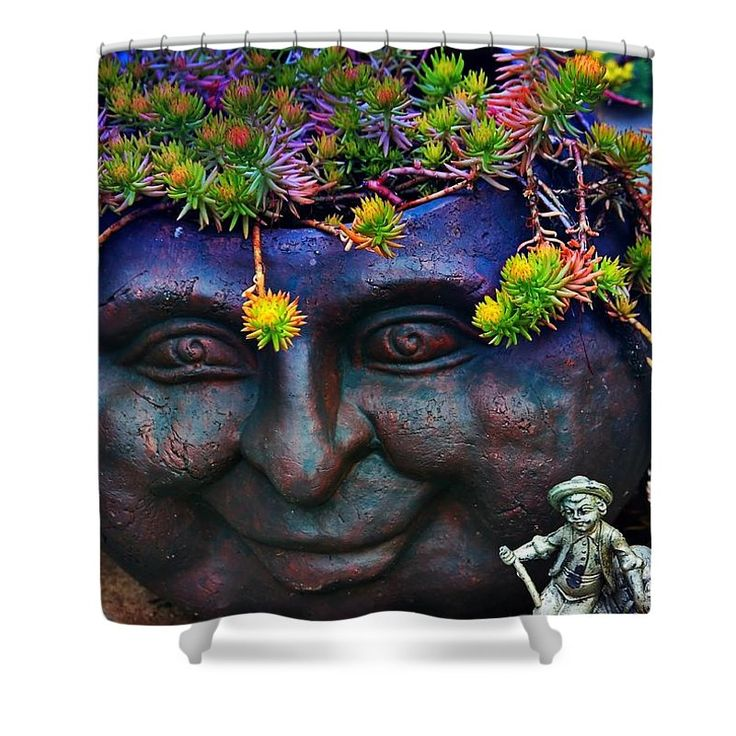 One Of A Kind Shower Curtains Part - 35: One Of A Kind Shower Curtain, For Sure. Bring This Unique Garden Design Into