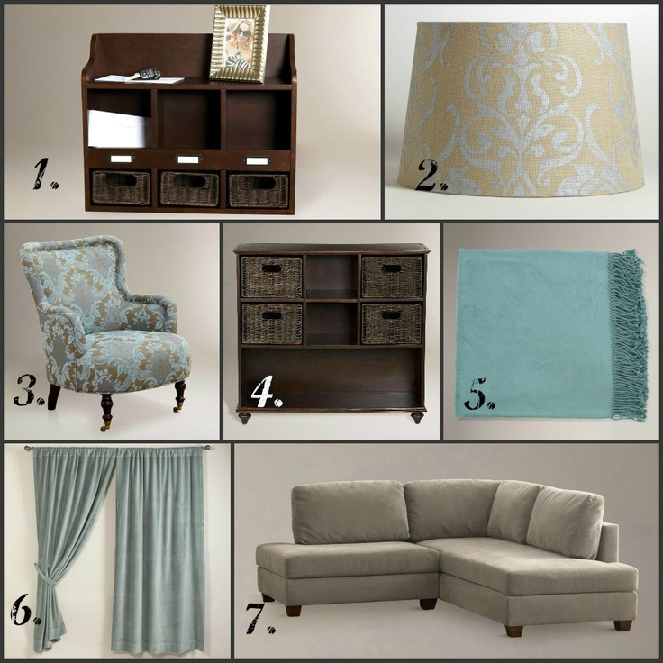 Makeover your living room with these calm and neutral colors... all items from @WorldMarket. #WorldMarket_HGTV
