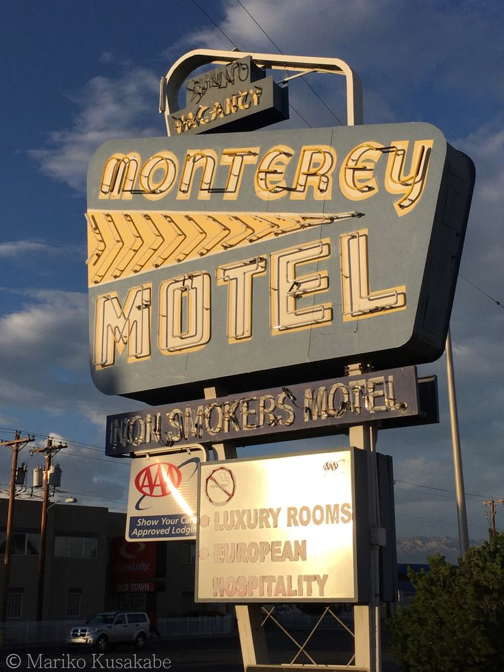 """ Monterey Motel "" in Albuquerque New Mexico  "" Route 66 on My Mind "" Route 66 blog ; http://2441.blog54.fc2.com/ https://www.facebook.com/groups/529713950495809/ http://route66jp.info/"