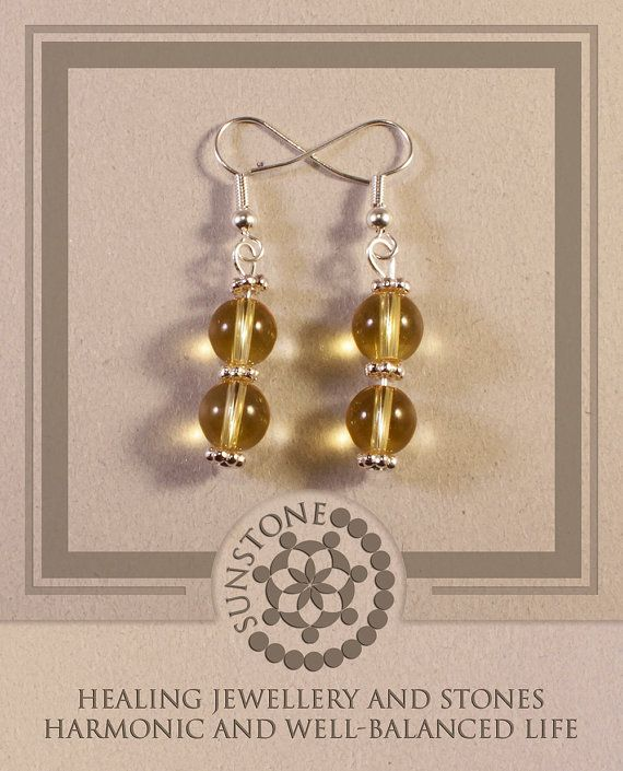 Citrine Gemstone Earrings with Tibetan Beads by by SunstoneCraft, £8.00