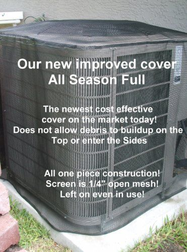 """Air Conditioner Cover All Season 26""""x26""""x 32""""ht ALMOND and Custom ht. is available at no extra charge. Is your A/C unit full of leaves? The only cover you can use all year even when it is running! We offer a full 5 year manufacturer's warranty. by Premieraccovers. $54.95. SIZE: 26""""X26"""" and any height of 30"""",28"""",26"""",24"""". For Optional sizes and heights below, email seller:. more sizes - click """"by Premieraccovers"""" - at top of page. When you order you will receive standard ..."""