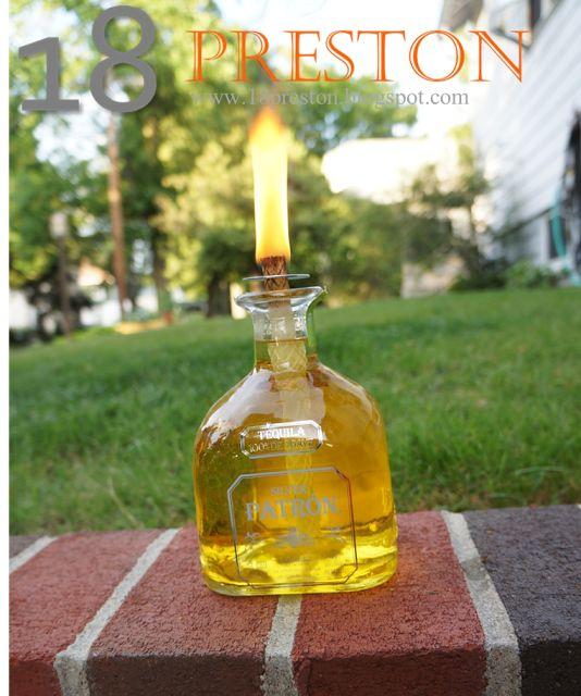 The Liquor Bottle Tiki Torch | 18 Preston
