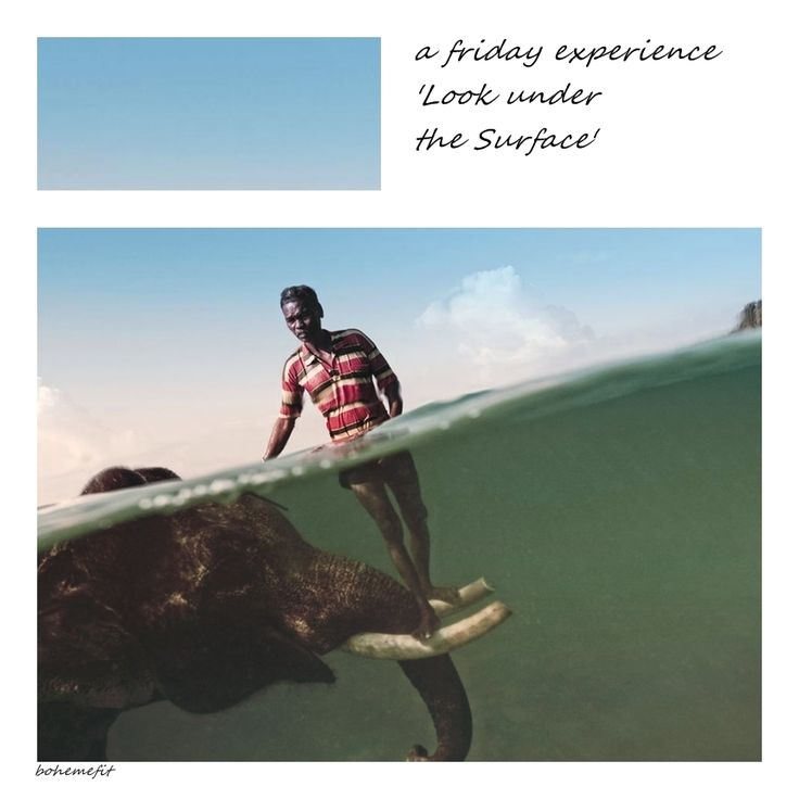 friday experience 'Look under the surface' #bohemefit ☾