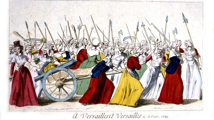 PODCAST:  In 1789, a group of protesters -- mostly women -- marched from Paris to Versailles to pressure King Louis XVI to address France's food shortage.