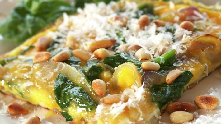 Frittata med spinat og parmesan - Kos - Oppskrifter - MatPrat