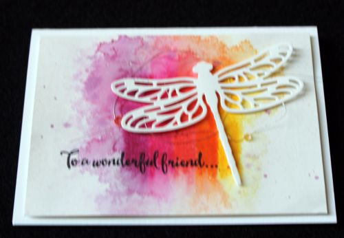 Stampin Up Occasions Catalogue 2017 On Stage stamping presentation sample by SU presenters using Dragonfly Dreams Thinlits. Click through for 9 more OnStage samples.