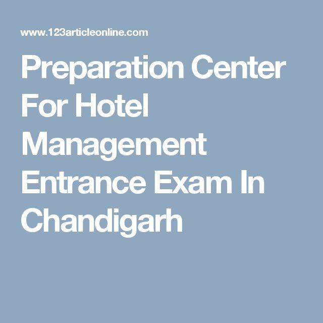 Preparation Center For Hotel Management Entrance Exam In Chandigarh