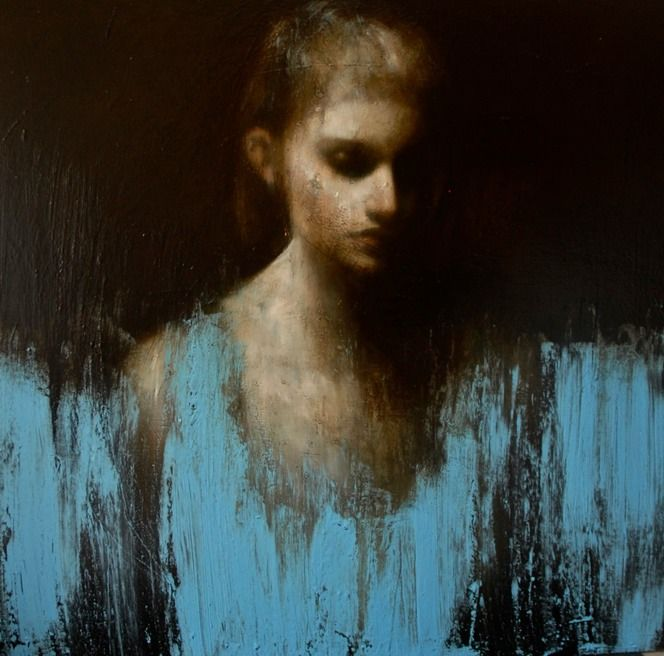 "Mark Demsteader. Passage Nº 2. Oil on canvas, 43 x 43""."