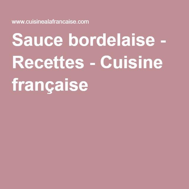 Sauce bordelaise