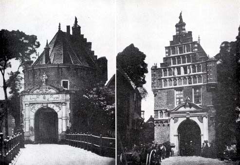 De voormalige Koepoort te Hoorn, land- en stadzijde