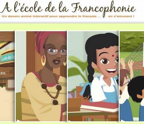 A l'école de la Francophonie | Un dessin animé interactif pour apprendre le français en s'amusant !