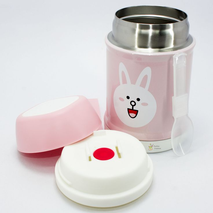 #Food Grade Stainless #Steel #Cat #Print #Thermos #Vacuum Food Jar with Folding #Spoon - K106 - #Pink - 400ML.   #Buy Here - http://amzn.to/2hpeE6I