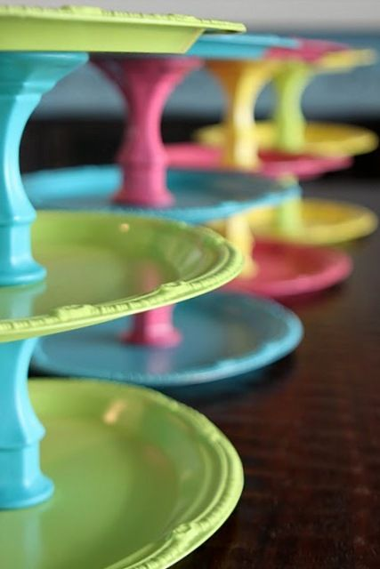 Cake stands, could display other items.