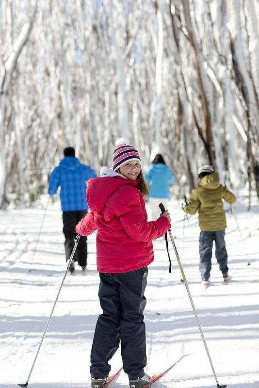Stay in Marysville and explore the beautiful Lake Mountain on cross country skis with the family.  www.marysvilletourism.com/visit-marysville-apps
