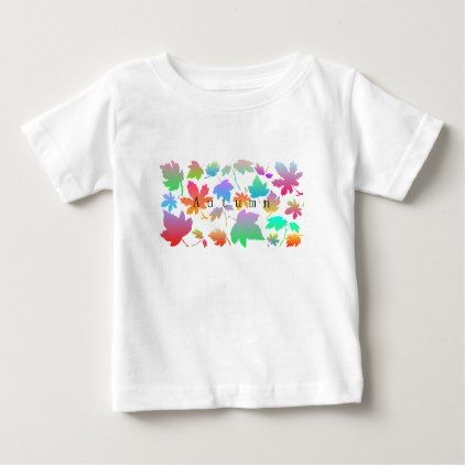 32 best family t shirt set images on pinterest t shirts texts colorful autumn leaves baby t shirt negle Images