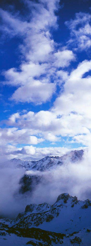 Hochgebirge, Wettersteingebirge, Wolkendecke, Felsformationen, Werdenfelser Land
